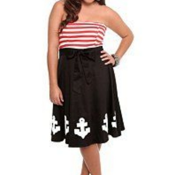 Torrid Retro Chic Vintage Sailor Dress Plus Size